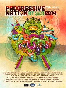 PROGRESSIVE NATION AT SEA 2014 EB POSTER