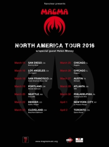 Magma US spring tour 2016 med