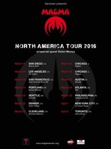 Magma US spring tour 2016 med